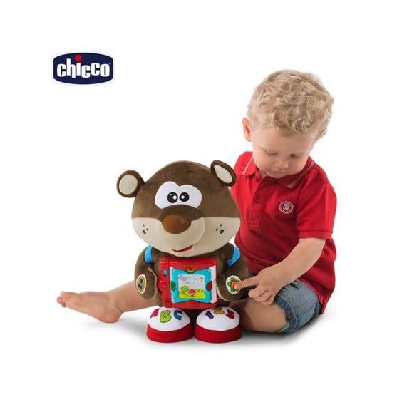 【chicco】雙語故事學習玩具熊(英/義)
