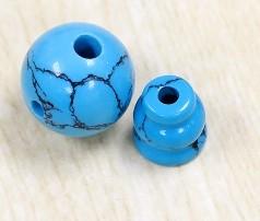 [協貿國際]合成黑紋松石藏式佛頭三通佛塔DIY飾品(5入價)