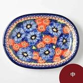 波蘭陶 仲夏紫蜜系列 橢圓盤 中 波蘭手工製