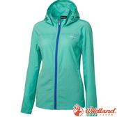 Wildland 荒野 0A61905-67湖水綠 女可溶紗環保透氣外套 彈性延展/輕薄透氣/連帽防曬/運動休閒/夾克