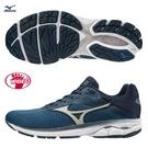 MIZUNO WAVE RIDER 23 男鞋 慢跑 路跑 4E 寬楦 避震 柔軟 DROP 12mm 藍【運動世界】J1GC190404