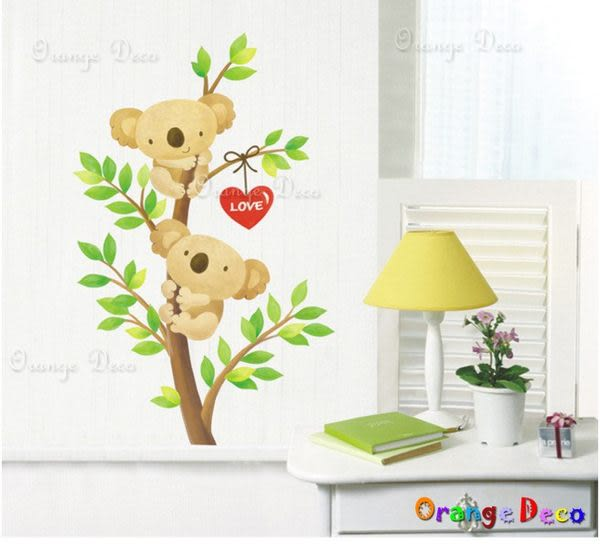 壁貼【橘果設計】無尾熊 DIY組合壁貼/牆貼/壁紙/客廳臥室浴室幼稚園室內設計裝潢