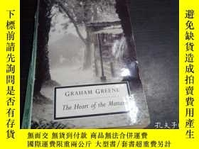 二手書博民逛書店Graham罕見Greene THE HEART OF THE MATTER 1971年 大32開平裝 原版英法德