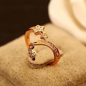 戒指 玫瑰金純銀 鑲鑽-經典大方生日情人節禮物女飾品73by21[時尚巴黎]