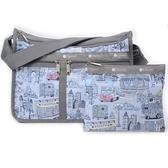【南紡購物中心】LeSportsac - Standard 雙口袋A4大書包-附化妝包 (曼哈頓之旅) 7507P F707