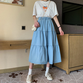 DE shop - 中長款小個子半身裙女顯瘦傘裙百搭A字裙 ~D-1648