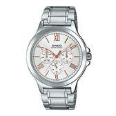CASIO 卡西歐 手錶專賣店 MTP-V300D-7A2 羅馬三眼指針男錶  不鏽鋼錶帶 防水 三重折疊扣 MTP-V300D