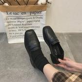 復古單鞋女新款春季方頭小皮鞋潮學生百搭軟妹英倫風女鞋子 蜜拉貝爾