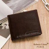 Roberta Colum - 魅力無限牛皮款8卡2照短夾-深咖