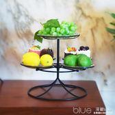 歐式婚慶甜品糕點架旋轉水果盤干果糖果盆蛋糕點心下午茶托盤創意 深藏blue