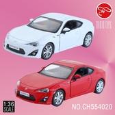 【瑪琍歐玩具】1:36 TOYOTA 86 授權合金迴力車/CH554020