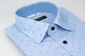 【金‧安德森】藍底藍雙箭窄版長袖襯衫