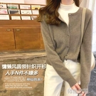 韓版純色軟糯短款溫柔打底內搭針織寬鬆慵懶風外穿開衫毛衣外套女-完美
