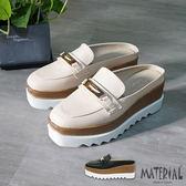 厚底鞋 金屬裝飾後空鬆糕厚底鞋 MA女鞋 T5269