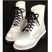 中筒雨靴-時髦防水熱銷防滑男女雨鞋6色5s27[時尚巴黎]