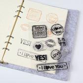 【BlueCat】火熱愛情郵戳透明矽膠印章