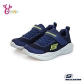Skechers童鞋 男童運動鞋 NITRO SPRINT 跑步鞋 慢跑鞋 網布透氣 魔鬼氈 V8214#藍綠◆OSOME奧森鞋業