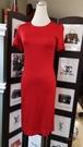 【雪曼國際精品】 LOVE MOSCHINO 系列 紅色連身裙~ 9成新
