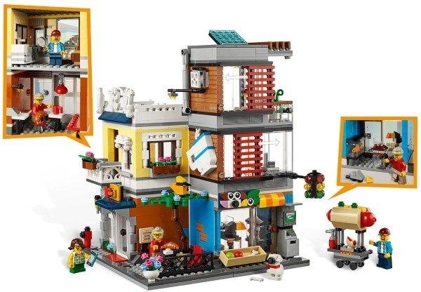 【LEGO樂高】CREATOR 寵物店和咖啡廳排樓 #31097