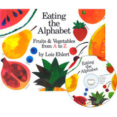 【廖彩杏有聲書單】EATING THE ALPHABET: FRUITS & VEGETABLES FROM A TO Z /英文繪本+CD