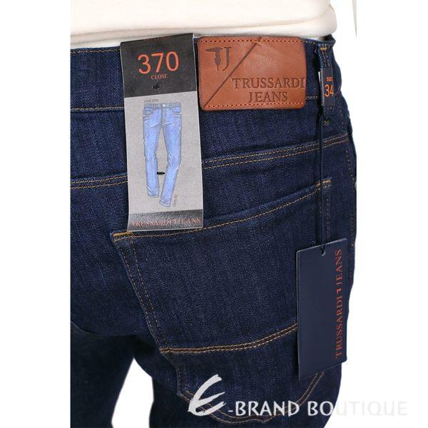 TRUSSARDI 370 CLOSE 深藍色中腰修身牛仔褲(男款) 1620459-34