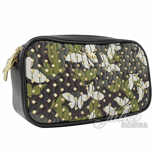 茱麗葉精品【專櫃款 全新現貨】MICHAEL KORS CROSSBODIES 蝴蝶鉚釘雙層相機包.黑