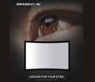 《名展影音》加拿大 Grandview 100吋 LARGE-FLAT 弧形畫框布幕