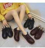 娃娃鞋 復古小皮鞋女英倫軟妹學院風加絨保暖休閒棉鞋 米蘭潮鞋館