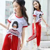 女童短袖夏裝2019新款T恤棉質洋氣中大童兒童半袖時尚韓版潮上衣 FR9520『俏美人大尺碼』