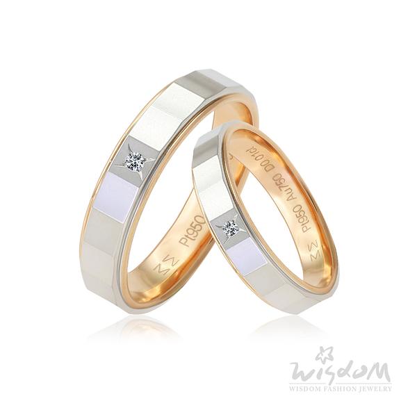 威世登 浪漫約定玫瑰K鉑金鑽石對戒-男戒 婚戒推薦 情人節禮物 DA03808B-BHXXX