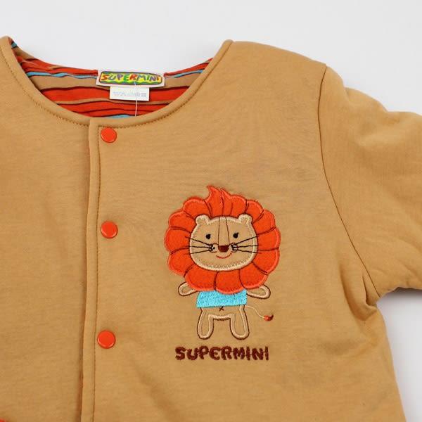 【愛的世界】純棉小獅子鋪棉兩面穿長袖外套/6個月-台灣製- ★秋冬外套 outlet零碼