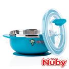 Nuby 不鏽鋼吸盤碗/不銹鋼餐具 -猴子藍(250m/6m+)