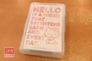 Hello Kitty 凱蒂貓 撲克牌 英文 白 KRT-211206