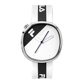 【FILA 斐樂】月蝕系列簡約風方形腕錶-個性黑/38-162-106/台灣總代理公司貨享兩年保固