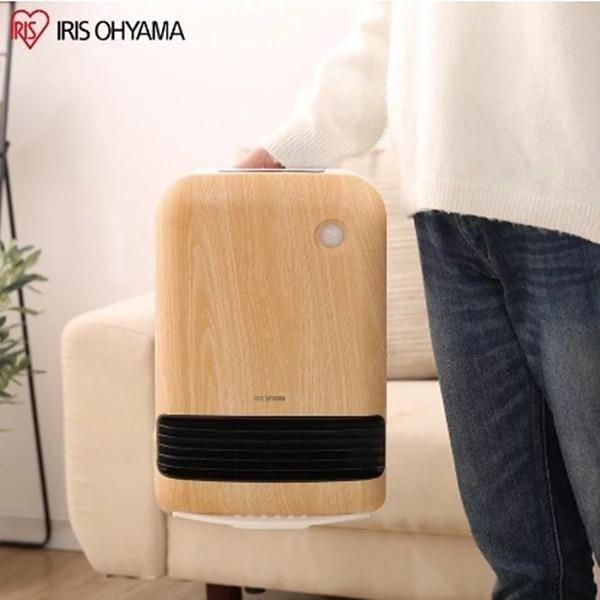 【南紡購物中心】IRIS 防傾倒 人感陶瓷電暖器 JCH-12TD3 (原木色)
