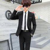 西裝男商務職業正裝西服韓版修身伴郎新郎結婚禮服【米蘭街頭】