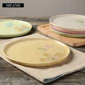 陶瓷餐盤(任兩款)-冰裂釉8寸花朵圓盤創意西餐盤5色73h12【時尚巴黎】
