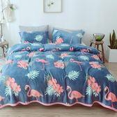 夏季毯子珊瑚法蘭絨小毛毯加厚床單單人薄款空調午睡毛巾夏涼被子