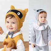 蒙面狸貓保暖護耳針織帽 童帽 毛帽 毛線編織