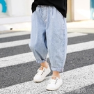男童牛仔褲夏薄款兒童防蚊褲寬鬆版小童春秋洋氣純棉長褲2021新款 一米陽光