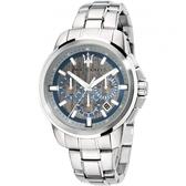 ★MASERATI WATCH★-瑪莎拉蒂手錶-三眼炫銀款-R8873621006-錶現精品公司-原廠正貨-