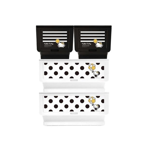 收納櫃 收納【R0198】Kitty黑點點款白底+白條紋黑底大嘴鳥整理箱(混裝) MIT台灣製 樹德 收納專科