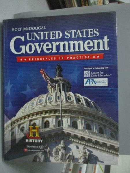 【書寶二手書T2/大學社科_ZEQ】United States Government: Principles in Pr