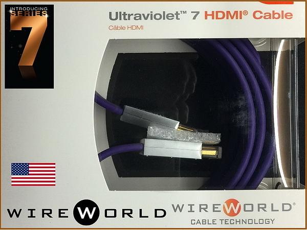 『盛昱音響』『單機瘋殺限時價↘ 限量二組』美國WireWorld ULTRAVIOLET 7 HDMI 2.0 版 【3米】卡門公司貨