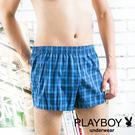 PLAYBOY內褲 格紋四角褲-平裝版-單件-PN203A(隨機出貨)
