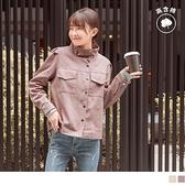 《EA3043》個性輕甜.立領/翻領小拋袖高棉質工裝外套 OrangeBear