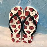拖鞋-新款夏季水果人字拖女夾腳涼拖鞋女夏外穿防滑平底跟沙灘鞋 花間公主