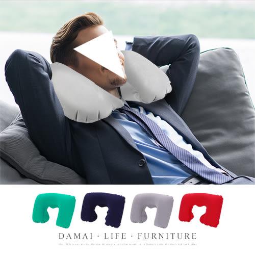 ✿現貨 快速出貨✿【小麥購物】靠頸枕 靠枕【Y113】 枕頭 吹氣式靠枕 U型枕旅行枕 隨機出貨