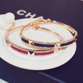玫瑰金純銀鑲鑽手鍊-優美滿鑽生日情人節禮物女手環 2色73bx55【巴黎精品】