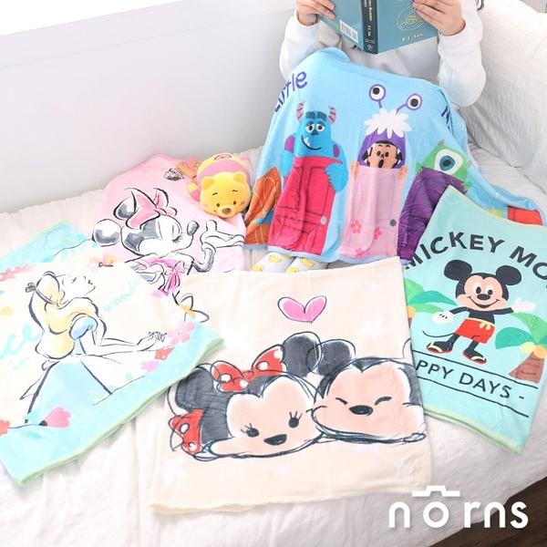 【迪士尼輕暖毛毯】Norns 正版刷毛毯 冷氣毯 隨意毯 萬用毯 毯子 膝上毯 TSUM 愛麗絲 米奇米妮